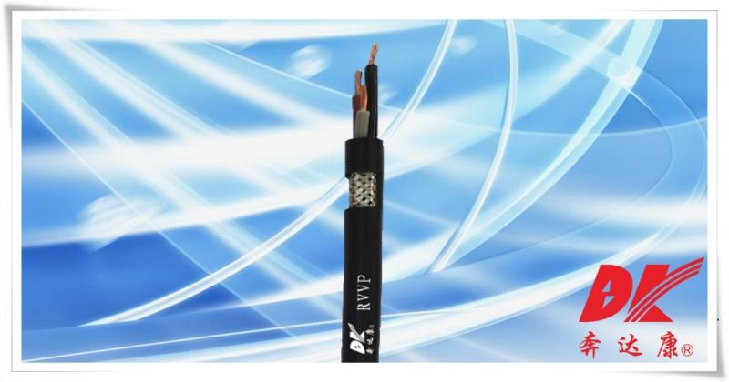 铜芯聚氯乙烯绝缘编织屏蔽聚氯乙烯护套软电缆