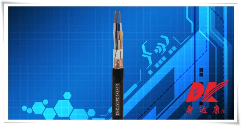 阻燃型聚乙烯绝缘对绞铜带总屏蔽聚氯乙烯护套计算机电缆