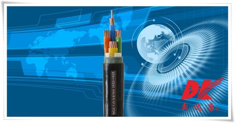无卤低烟阻燃型交联聚乙烯绝缘聚氯乙烯护套电力电缆